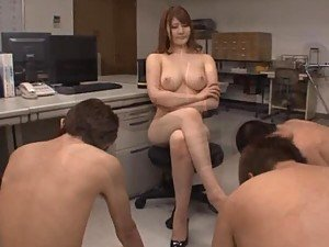 Hot Asian Gives a Sucks Three Cocks Before Giving a POV Blowjob