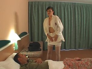 Kinky female nurse fucks with her handsome patient