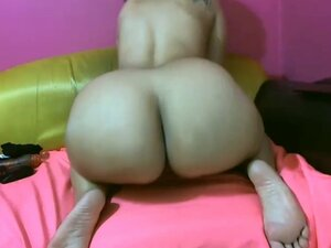 Girl with big ass rides your dick on webcam
