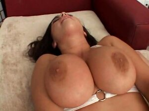 Man squeezes and fucks tits of Whitney Stevens while pounding her pussy