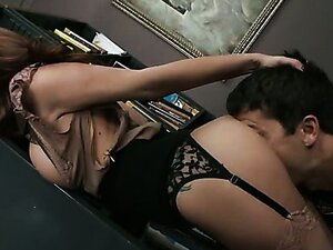 Horny librarian Monique Alexander gets nasty at work