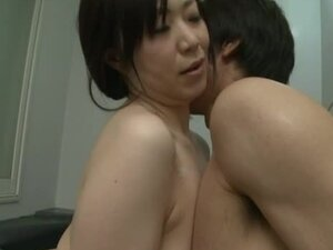 Busty Mature Japanese soaps her man and rides his dick