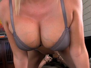 Hot blonde tan milf sucks dick and gets a facial!
