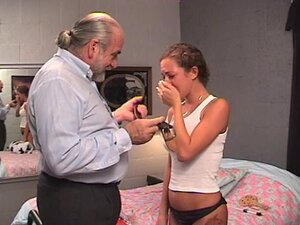 Hardcore BDSM babe is getting spanke by an old fart