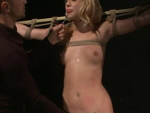 Poor Little Blonde Linda Ray Getting a Rough Fucking in BDSM Vid