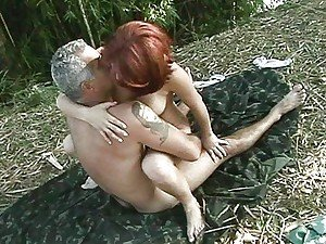 He shows her how to survive in free nature