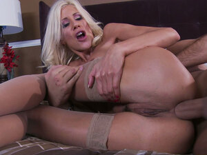 Skinny ash blonde Puma Swede gets her asshole drilled deep by Keiran Lee