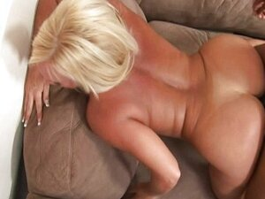 Hot blonde MILF having interracial sex