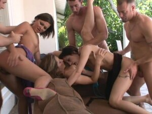 Allison Pierce having a orgy get together with some of her sexy friends