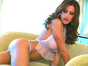 Beautiful Brunette Slut in Sexy White Lingerie