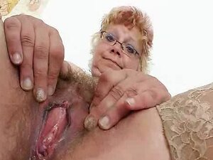 Woolly grandma unshaved twat closeups