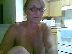 A busty and somewhat lonely mature mom plays with herself on her webcam