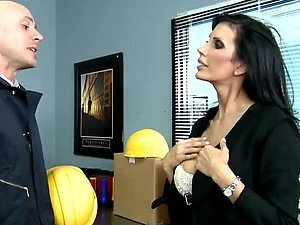 Sex In the Office with the Busty Deepthroater Shay Sights