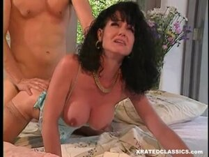 Lusty hot babe JeAnna Fine receives attacked by a massive noodle from behind