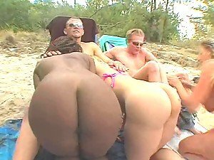Hot Beach Orgy With very Slutty Chicks