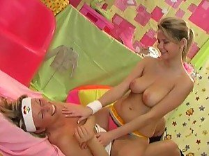 Busty Teen Euro Lesbians Michaela Borovska and Zoe Mcdonald Have Hot Sex
