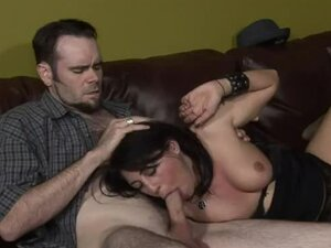 Sexy Britney and two bisexual dudes are having an oral