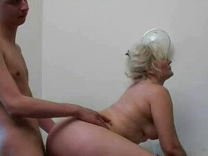 Blonde Mature In Office Fucking With Young Gu