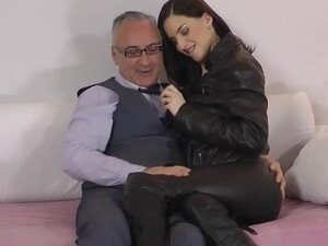 Young beauty fucked by an old man