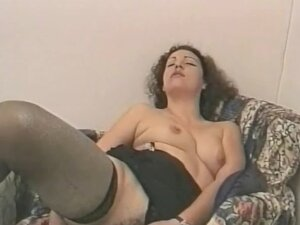Vintage hardcore with a mature brunette toying her twat and sucking cock