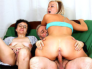 Old horny fart fucking young babe