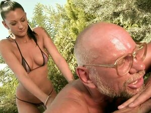 Slim Skanky Whore Sucks Grandpa Dick & Gets Nailed