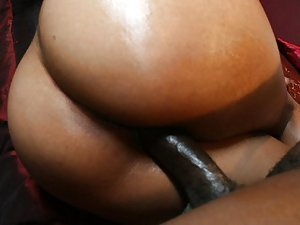 Look at this black chocolate ebony slut fucking a big black dick and getting it deep in her hole! It is like a little lollipop for her, she is taking it all, and that seems not enough for her! Some big black cock is banging the hell out of her tight black