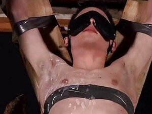 Aaron Aurora Tied Up Blindfolded And Sucking