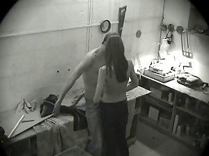 This security cam filmed everything, hot oral sex and long lasted doggyfuck