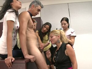 Guy Gets Kidnapped By A Group Of Chicks For Cock Fun