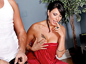 Zoey is fed up of acting like a trophy wife to her rich husband who feels the need to control her so she isn't taken away from him. He lavishes her with gifts but all she really wants is a big cock, which he cannot provide. One day, there are complication