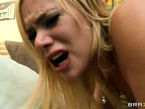Blonde pornstar Shyla Stylez banged hard and creampied in her asshole