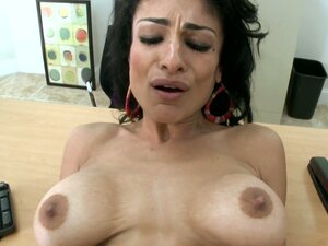 Busty Persia Pele gets a cumshot all over her pussy and stomach
