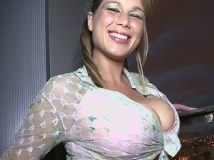 Horny bitch with big boobs gets fucked in her mouth and pussy
