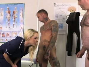 Small cock guys getting blowjob by their blonde dominatrix