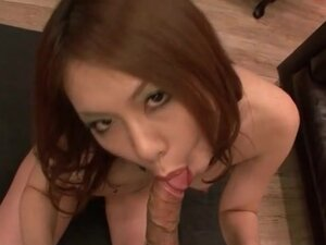 Arousing Japanese blowjob and sexy titjob