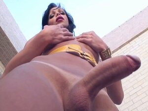 Shemale wants to fuck this tight asshole with her big dick