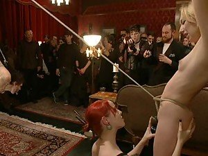 Crazy BDSM Gangbang With Hot and Busty Submissive Babes