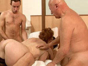 Eodit and Margo T. get fucked by two lewd guys in the bedroom
