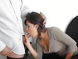 Michelle Avanti loves sucking a cock under the desk in her office