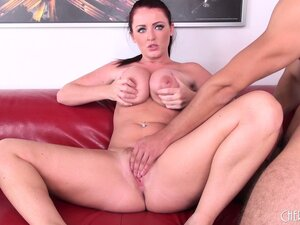 Big boobed Sophie Dee uses toys and fingers inside her pussy
