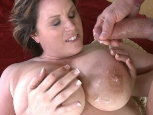 Lisa Sparxxx busty milf cum filled on her boobs