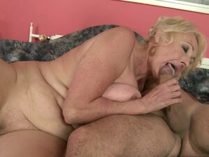 Really Randy Granny Having Fun with The Handsome Trainer