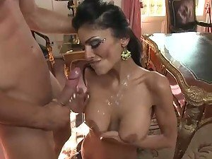 Arab Beauty Persia Pele Getting Fucked and Taking Cum on her Big Tits