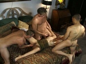 Gigantic boners flocking to gang fuck busty blondie