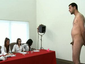 Guy Gets A Thorough Check Up From Three Hotties