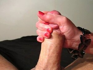 Stroking The Cum Out