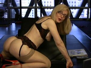 Nina Hartley shows off her wet vag