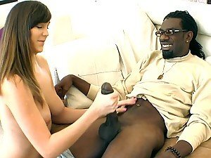Cute Brunette Teen Fucked Hard by Black Cock In Interracial Sex