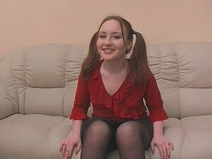Sweet Teen Redhead Gets A Throat-Massage